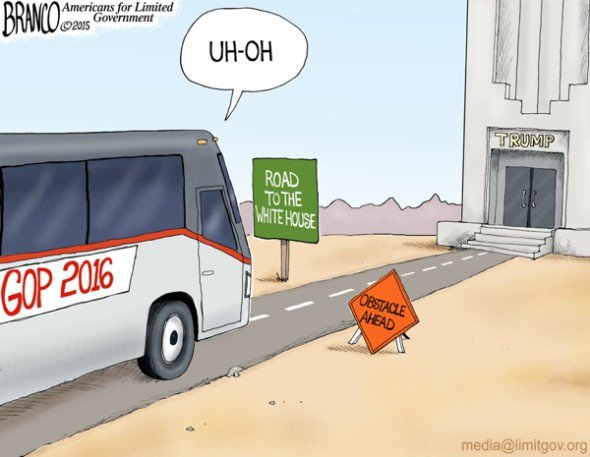 Branco_Trump_blocks_road