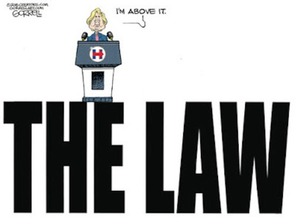 Hitlery Above the Law