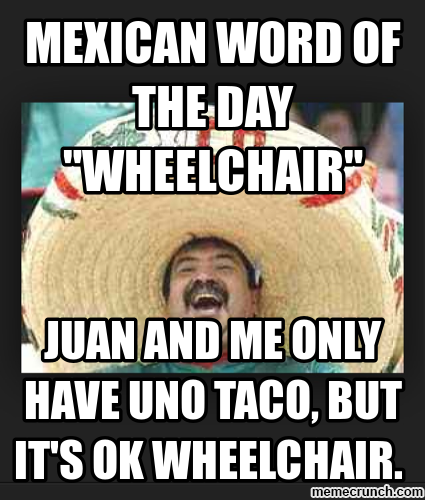 Mexican Word of the Day Wheelchair