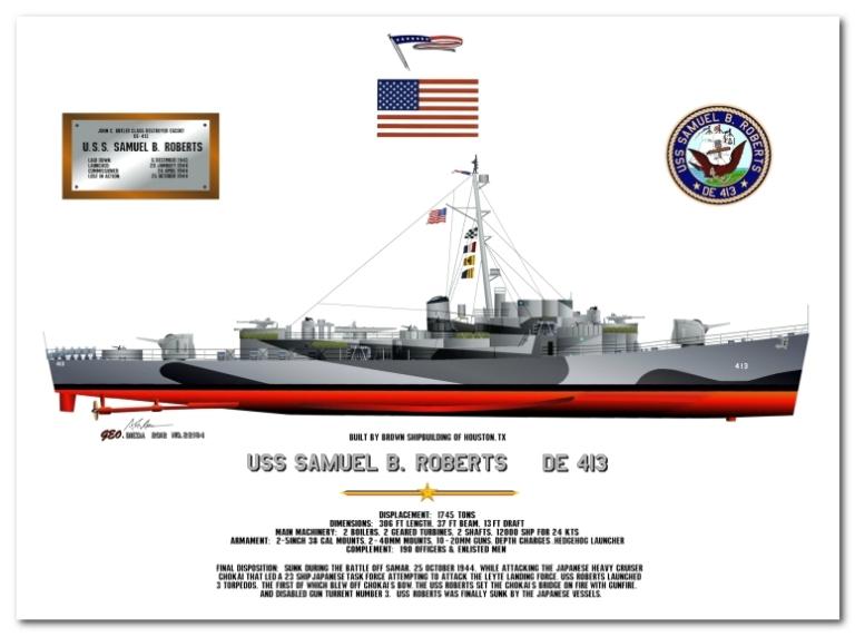 USS Samuel B Roberts DE 413