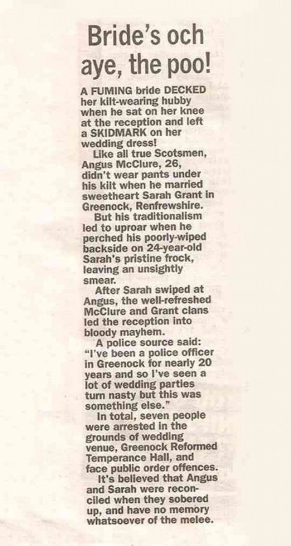 cool-newspaper-wedding-kilt-dirty-dress