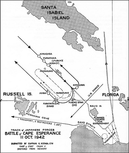 map-of-battle-of-cape-esperance