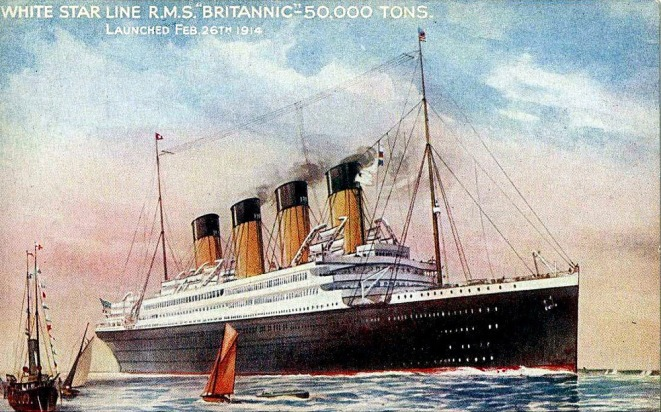 britannic-launch-postcard
