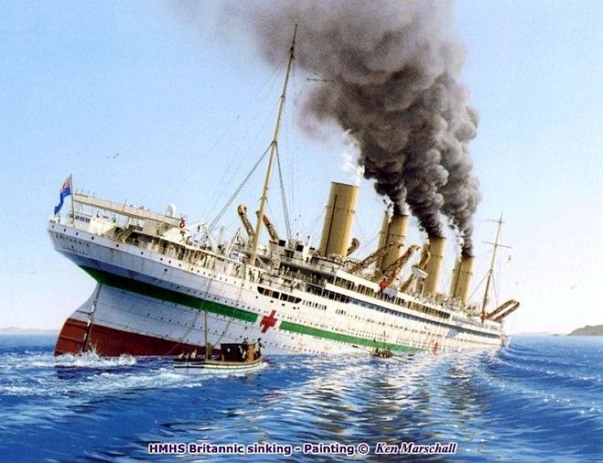 britannic-sinking-ken-marschall