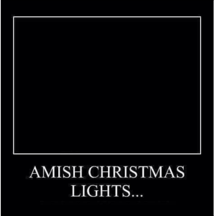 Amish X-mas lights