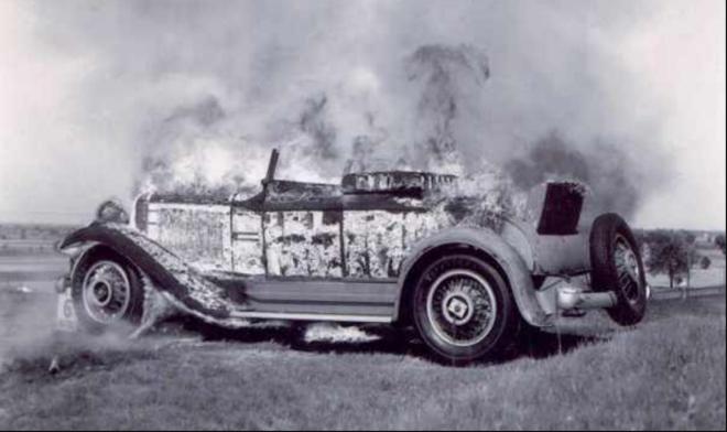 studebaker-roadster-burning