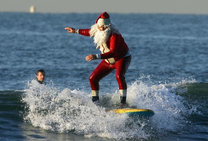 Santa in Wetsuit