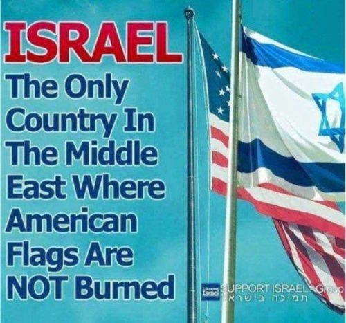 israel-american-flags