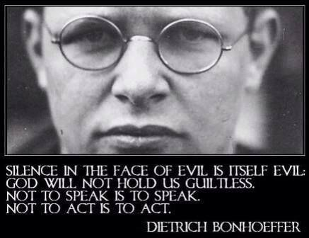 Bonhöffer:Speak against evil