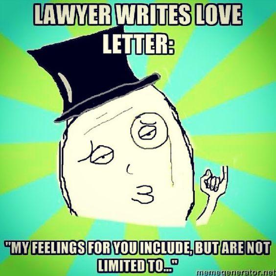 Lawyer Love Letter