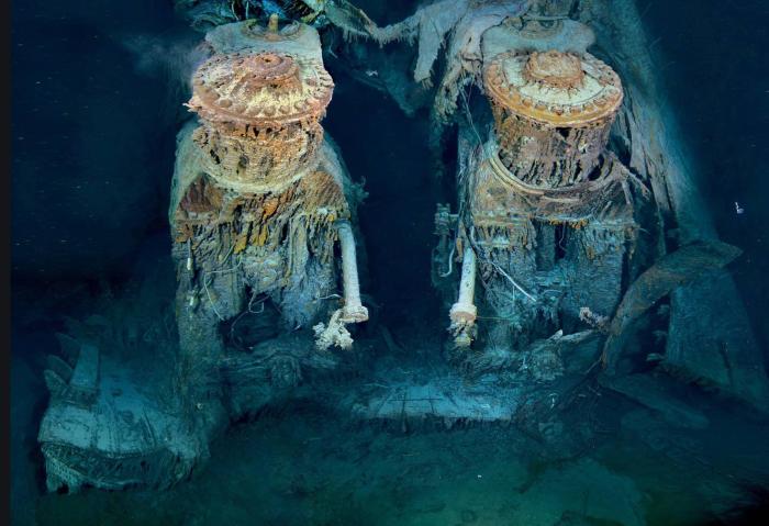 Titanic engine seafloor