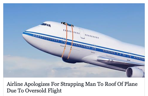 United-strapped to roof