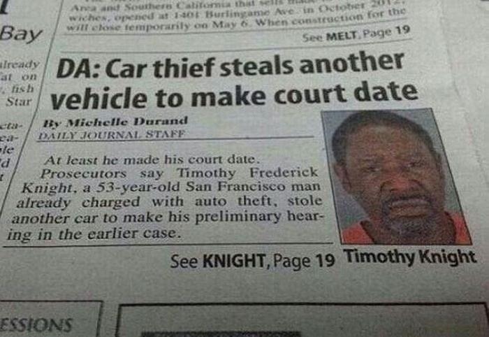 Vehicle thief