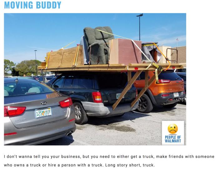 Walmart Car Show - Moving Buddy
