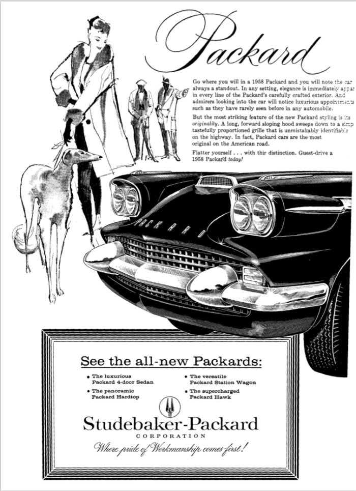 '58 Packard Ad