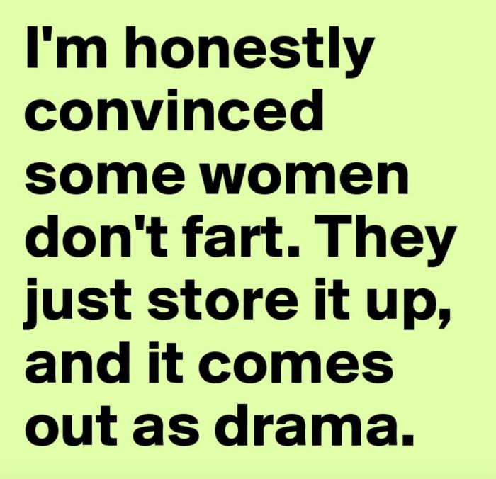 Women don't fart