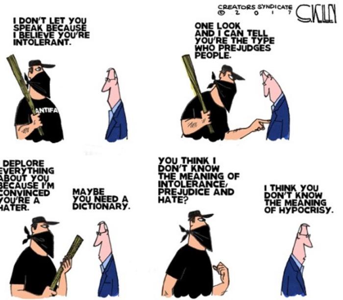 Antifa-Hypocrisy