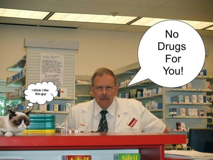 Grumpy pharmacist