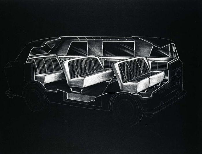 Jeep FC minivan interior