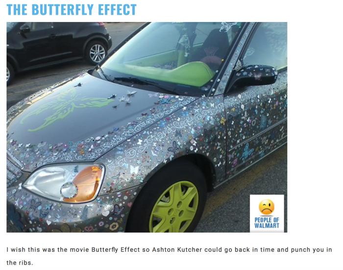 Walmart car show-butterfly