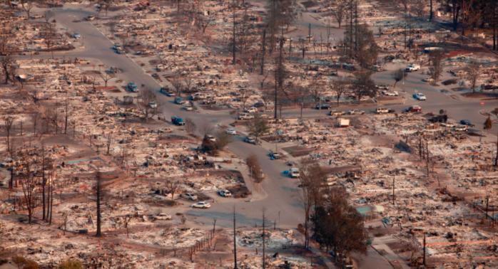 Burned out homes - Santa Rosa