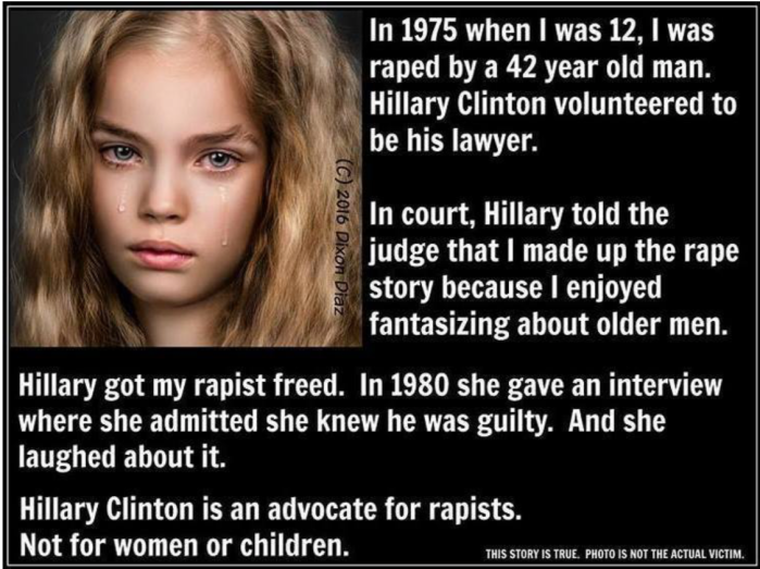 Hitlery defends rapist
