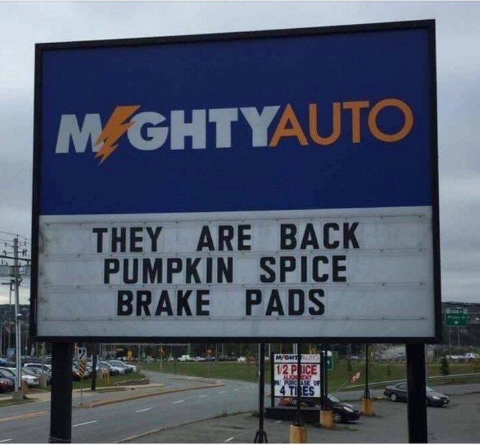 Pumpkin spice brakepads