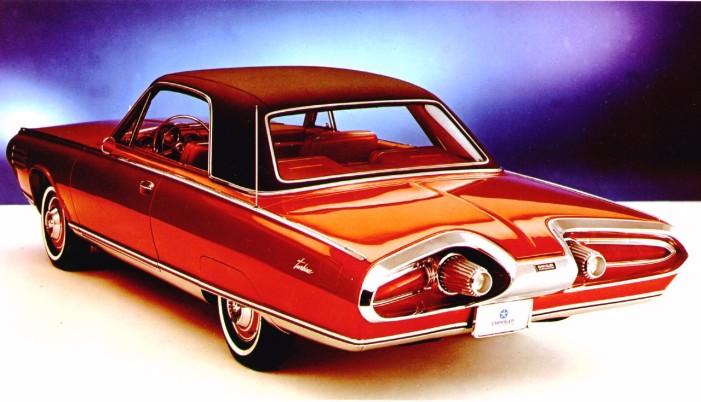 1963 Chrysler Turbine Car Rr Qtr Blue Bk