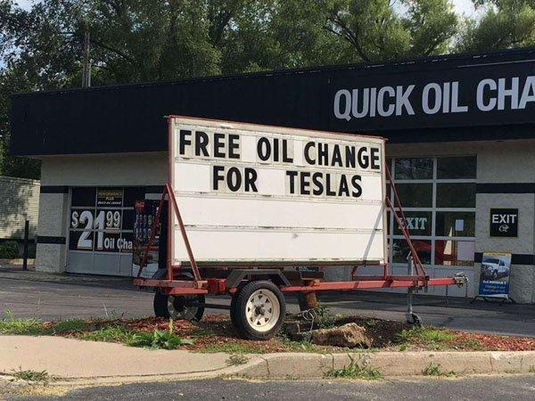 Tesla Oil Changes