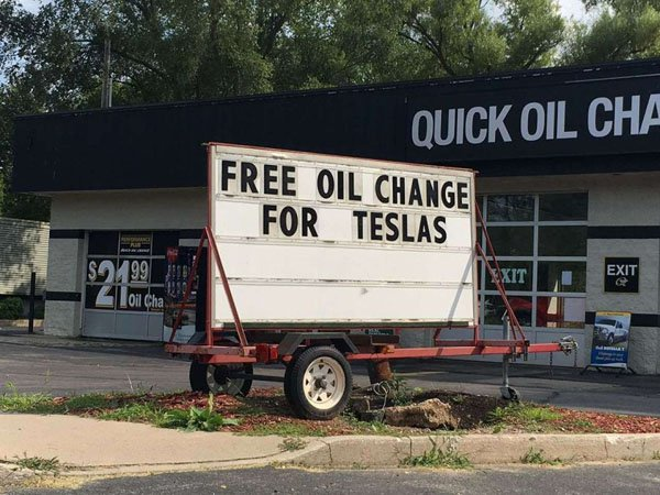 Tesla Oil Changes