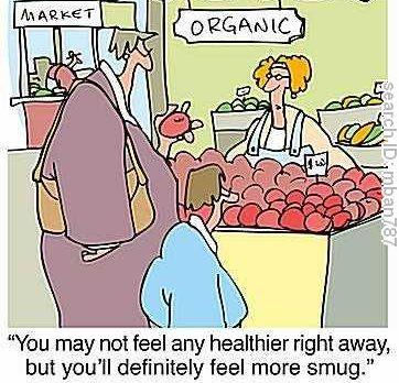 Healthy or smug-organic
