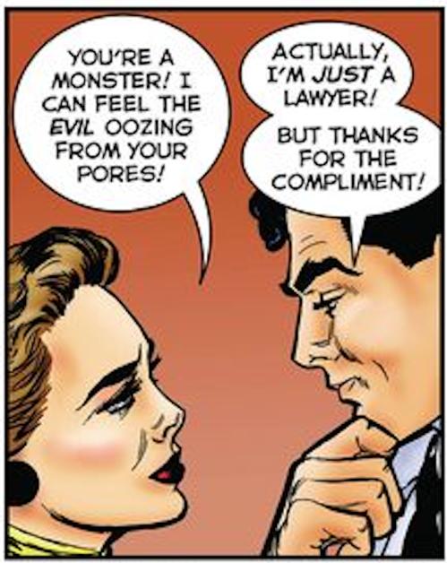 Lawyer joke-monster