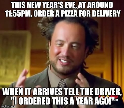 New Year Pizza