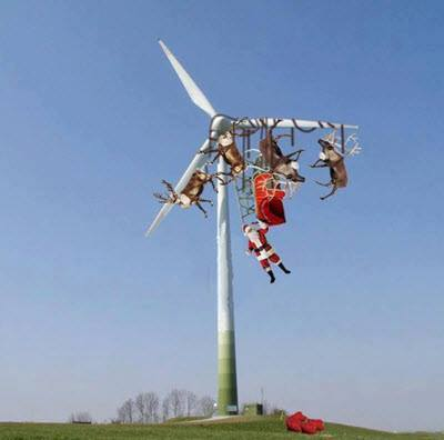 Santa-windmill