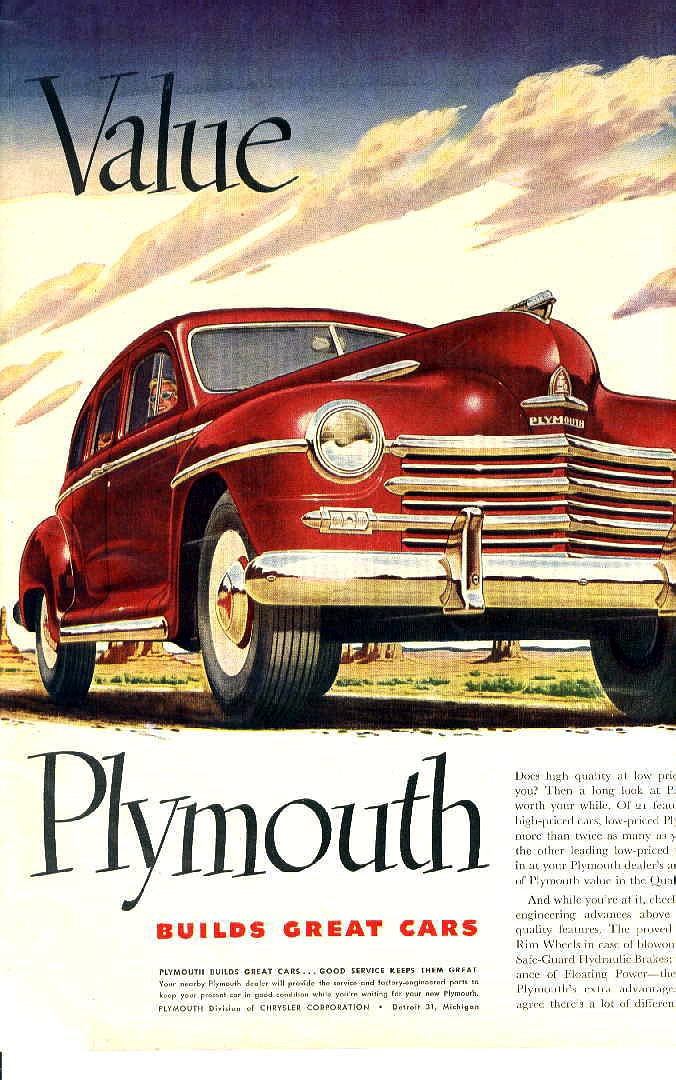 1948 Plymouth Ad