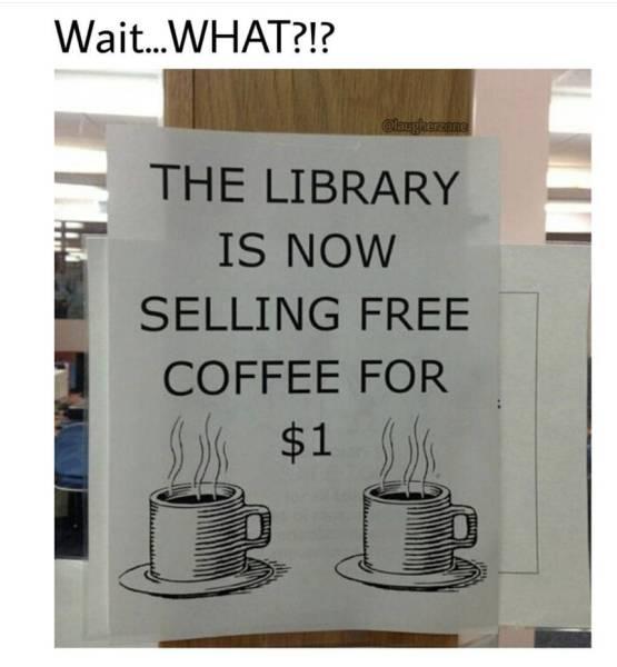 Free Coffee - $1