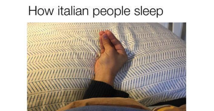 How Italians sleep