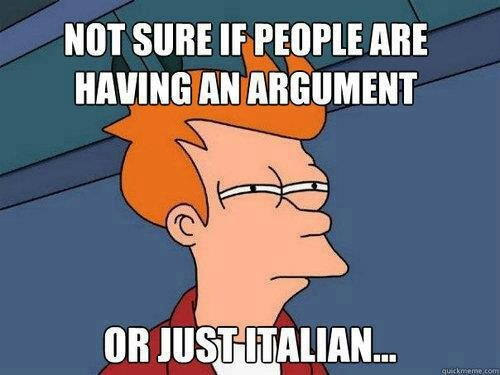 Italian or argument