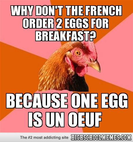 One egg un oeuf