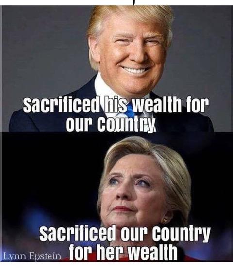 Trump vs Hitlery-sacrifice