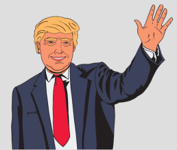 Trump waving