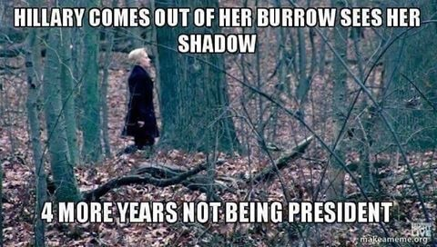 Hitlery sees her shadow