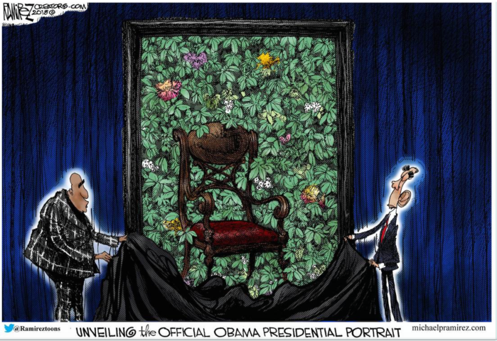 Obama-empty chair portrait