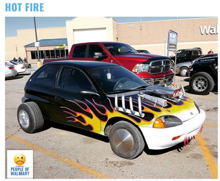 Walmart car show