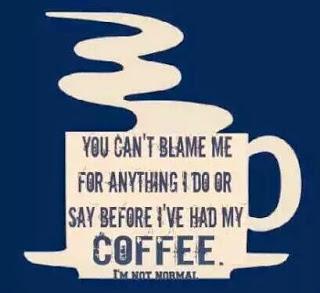 Blame coffee
