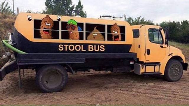 Flush-stool bus