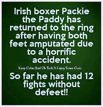 Irish boxer Paddy