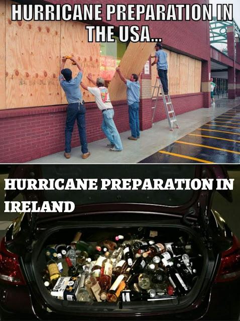 Irish hurricane prep