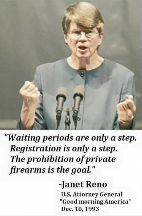 Janet Reno-gun control