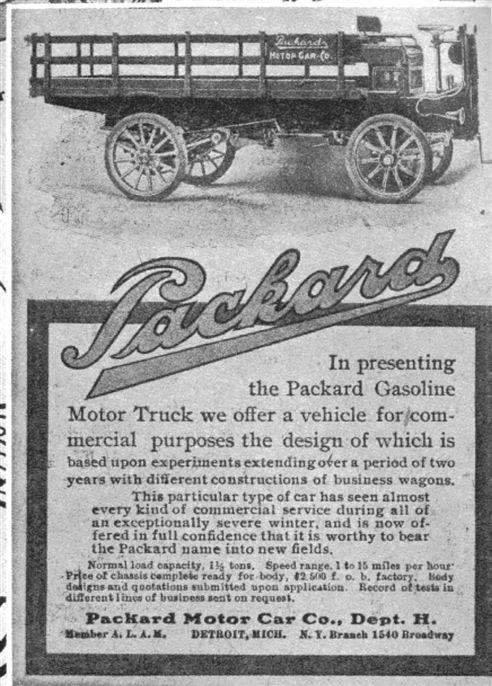 Packard truck ad